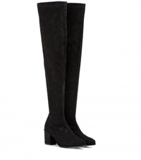 Opening Ceremony Marquee Suede Over The Knee Boots Black