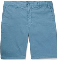Norse Projects Aros Cotton Twill Shorts Blue