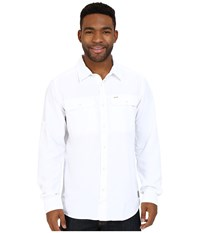 Mountain Hardwear Canyon L S Shirt White Men's Long Sleeve Button Up