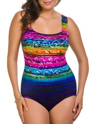 Longitude Printed One Piece Pink