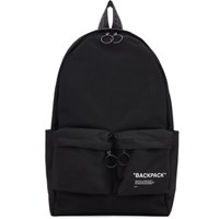 Off White Black Quote Backpack