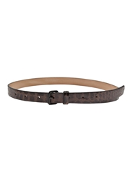 Sofie D'hoore Croc Embossed Belt Brown