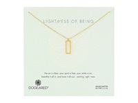 Dogeared Lightness Of Being Air Rectangle Necklace Gold Dipped Necklace