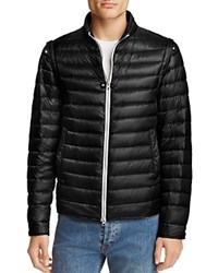 Herno Convertible 2 In 1 Down Jacket Black