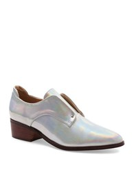 Kensie Dante Laceless Oxfords Silver