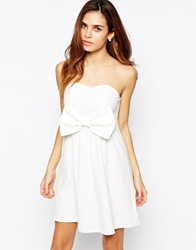 Tfnc Bandeau Dress With Bow Detail Cream