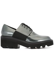 Vic Matie Chunky Sole Metallic Grey Lace Up Shoes