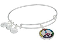 Alex And Ani Romero Britto Art Infusion Peace Sign Shiny Silver Bracelet Metallic