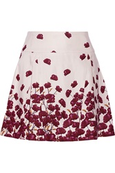 Suno Floral Print Cotton Blend Mini Skirt