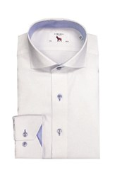 Lorenzo Uomo Men's Big And Tall Trim Fit Solid Dress Shirt White