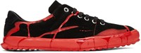 Comme Des Garcons Homme Plus Black And Red Painted Movesta Sneakers