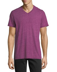 Velvet V Neck Soft Heather T Shirt Persian