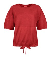 Escada Sport Waffle Stitch Top Female Red
