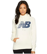 New Balance Essentials Pullover Hoodie Angora Women's Fleece Bone