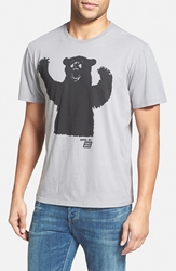 Ames Bros 'Big Bear' Graphic T Shirt Wolf Gray