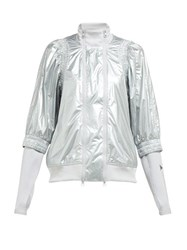 Adidas By Stella Mccartney Metallic Shell Performance Jacket Silver