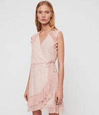 Allsaints Priya Leox Dress Red