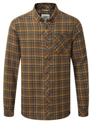 Craghoppers Men's Kearney Long Sleeved Checked Shirt Yellow