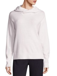 Vince Cashmere And Wool Crossover Hooded Sweater Coastal Winter White
