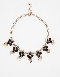 Nali Crystal And Metal Necklace Black