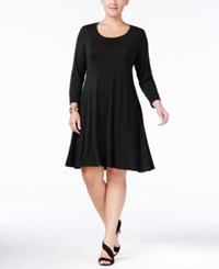 Styleandco. Style Co. Plus Size Swing Dress Only At Macy's Deep Black