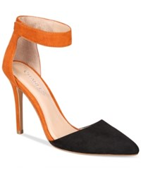 Charles By Charles David Pointer Two Piece Pumps Women's Shoes Black Camel