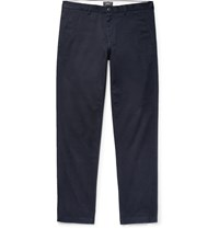 Club Monaco Connor Slim Fit Stretch Cotton Twill Chinos Blue