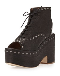 Halizee Studded Platform Boot Black Laurence Dacade