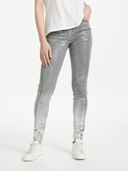 Pieces Five Delly Distressed Skinny Jeans Dark Grey Denim