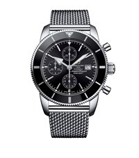 Breitling Stainless Steel Superocean Heritage Ii Chronograph Watch 46Mm Black