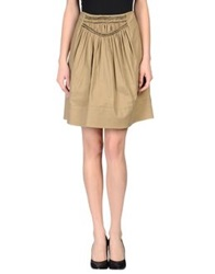 Schumacher Knee Length Skirts Khaki