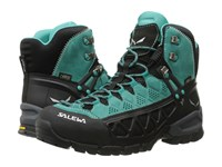 Salewa Alp Flow Mid Gtx Venom Bright Acqua Women's Shoes Green