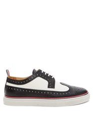 Thom Browne Trainer Sole Longwing Leather Brogues Black White