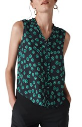 Whistles Maddie Frill Top Green Multi