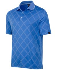 Greg Norman For Tasso Elba Men's Diamond Sun Protection Performance Polo Only At Macy's China Blue