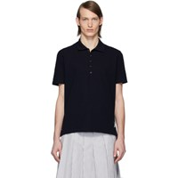 Thom Browne Navy Center Back Stripe Polo