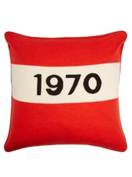 Bella Freud 1970 Wool Blend Cushion Red