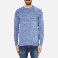 Barbour Men's Cotton Staple Crew Knitted Sweater Bright Blue