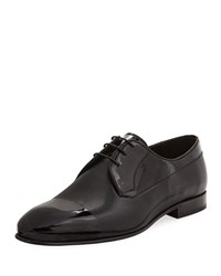 Jared Lang Lace Up Textured Dress Shoe Black
