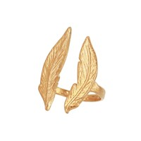 Brianna Lamar Double Feather Ring In Gold