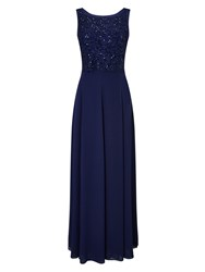 Jacques Vert Long Carwash Lace Dress Blue