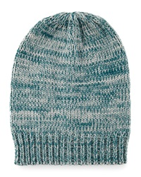 Hat Attack Marled Slouchy Knit Hat Teal