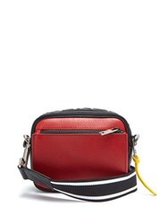 Givenchy Mc3 Leather Cross Body Bag Black Red