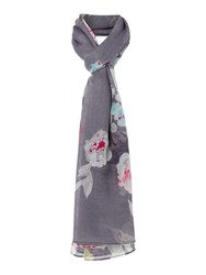 Joules Long Line Scarf Grey