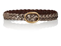 Campomaggi Braided Metallic Leather Belt Gold