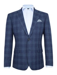 Paul Costelloe Men's Newham Check Blazer Navy