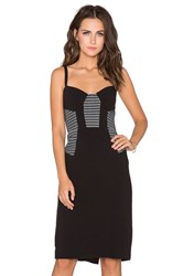 Milly Mesh Bustier Dress Black