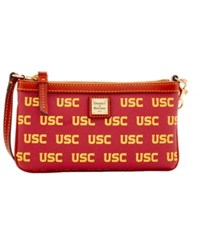 Dooney And Bourke Usc Trojans Large Wristlet Maroon