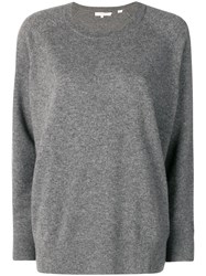 Chinti And Parker Plain Cashmere Sweater Grey