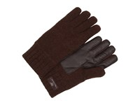 Ugg Calvert Glove With Smart Glove Leather Palm Stout Heather Dress Gloves Brown